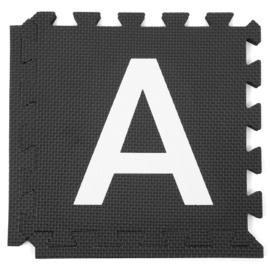 Speelmat alfabet/figuren Zwart-Wit 2,86 m² / 30 tegels (30 x 30 x 1,2 cm)