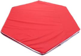 Binnen-/buitenspeelkleed (voor playpens 5,49  m / 6 x 90 cm) rood/groen