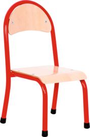 """Kinderopvang stoelen hout/metaal """"modern"""" (in 6 maten en 7 kleuren)"""