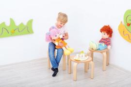 Kinderopvang krukken hout (7 maten in natuur/beuken)