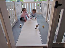 Kunststof grondbox/playpen 7,3 meter (75 cm) Wit