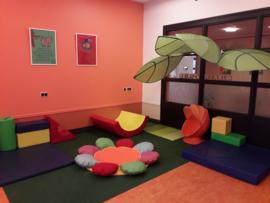 Speelmat/speelkleed Bloem (kleur) 150 cm