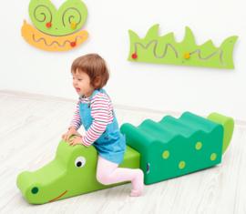Krokodil (van foam blokken/speelkussens)
