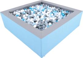 Ballenbak / Ballenbad 2 x 2 meter (45 of 60 cm) met/zonder glijbaan
