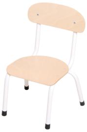 "SALE! Kinderopvang stoelen hout/metaal ""klassiek"" Wit - maat 1 (lakschade)"