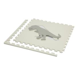 Speelmat Dinosaurussen Grijs-Wit of Wit-Grijs / 4 tegels (60 x 60 x 1,2 cm)