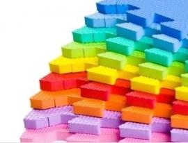 """Speelmat 2,86 m² """"Mix"""" / 30 tegels (30 x 30 x 1,2 cm)"""