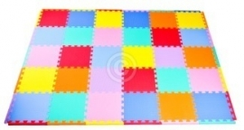 "Sportmat 8,5 m² ""Mix"" / 90 tegels (30 x 30 x 1,2 cm)"