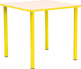 SALE! Vierkante kinderopvang tafel (65 x 65 cm) GEEL