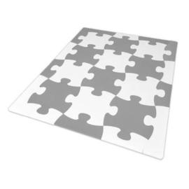 Speelmat Puzzelstuk Grijs-Wit / 12 tegels (46 x 38 x 1,4 cm)