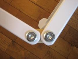 Veiligheidshek/kinderhekje 274,5 cm WIT zonder deur (79 cm)