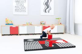 Speelmat/speelkleed Contrasten/Spiegels (145 x 120 x 4 cm)