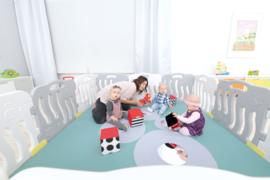 Kunststof grondbox/playpen 7,84 meter (59 cm) Grijs/Wit