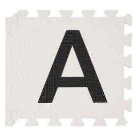 Speelmat alfabet/cijfers/figuren MIX VAN TWEE (PASTEL) KLEUREN 2,86 m² / 30 tegels (30 x 30 x 1,2 cm)