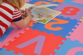 Speelmat alfabet/cijfers/figuren (kleuren) 3,6 m² / 40 tegels (30 x 30 x 1,2 cm)