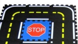 Puzzel Verkeersspeelmat / 18 delen (30 x 30 x 1,2 cm)
