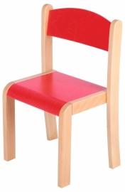 Kinderopvang stoelen hout (in 4 maten en 8 kleuren)