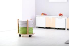 20 ronde zitkussens (multikleuren, groen of grijs)