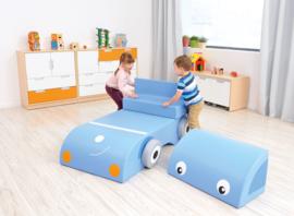 Speelauto (van foam blokken/speelkussens)