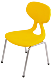 Kinderopvang stoelen kunststof/metaal (in 6 maten en 5 kleuren)