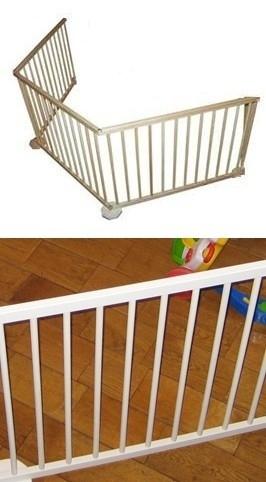 Veiligheidshek/kinderhekje 274,5 cm WIT zonder deur (79 cm) leverbaar 21 mei