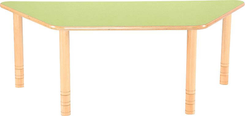 SALE! Kinderopvang tafel groen trapezium (150 x 80 x 80 x 80 cm)