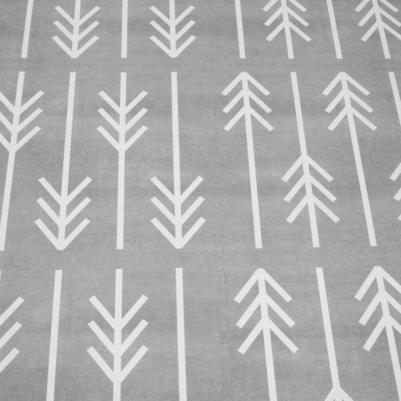 Speelmat Nordic trees / 6 tegels (60 x 60 x 1,2 cm) 180 x 120 cm
