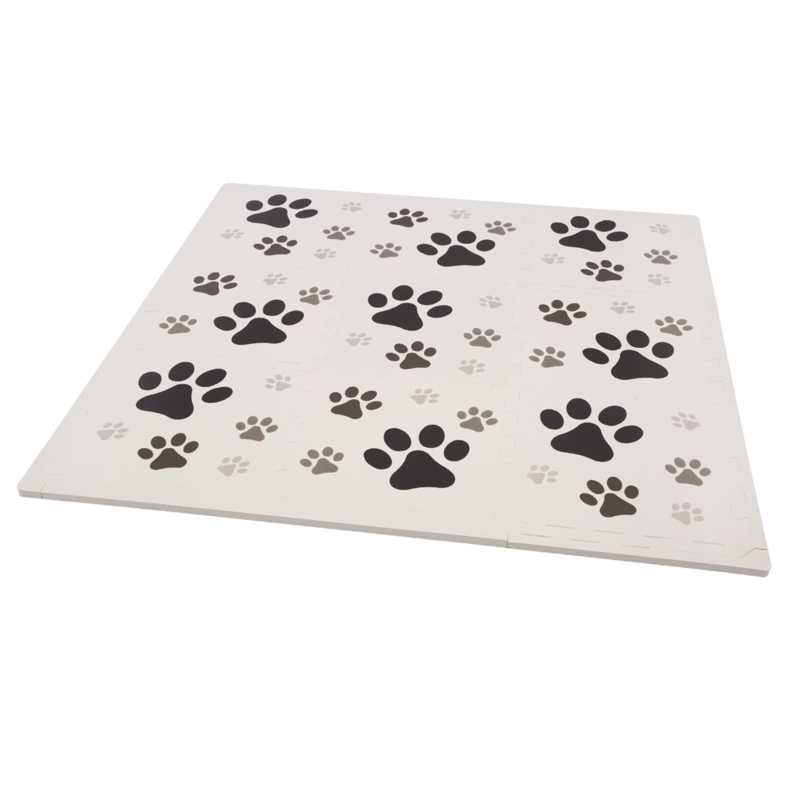 Speelmat Hondenpoten / 9 tegels (30 x 30 x 1,2 cm)
