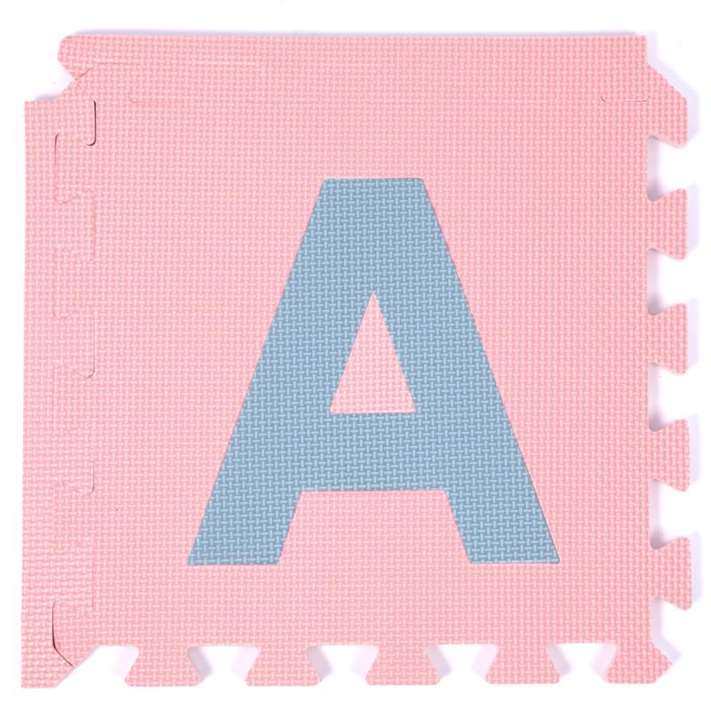 Terrastegels 30 X 40.Speelmat Alfabet Cijfers Figuren Pastel 3 6 M 40 Tegels