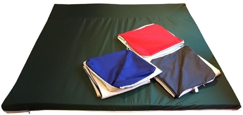 Binnen-/buitenspeelkleed (voor playpens 7,32 m / 180 x 180 cm) rood/groen/antraciet/blauw