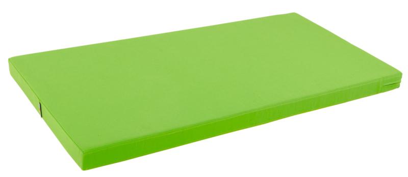 Sportmat/Gymmat/Speelmat/Ligkussen Groen/Geel (120 x 60 x 7 cm)