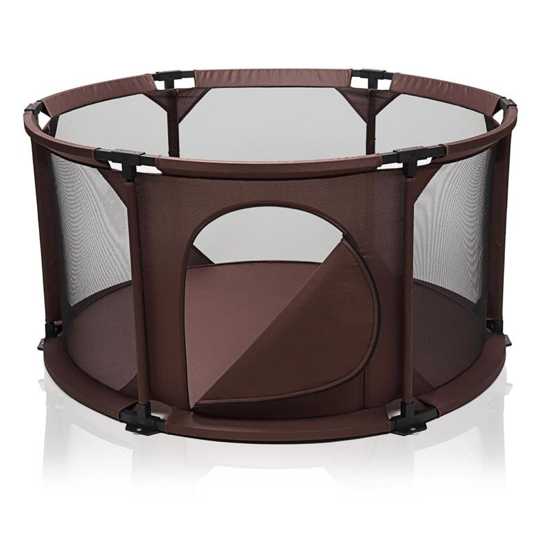SALE! Inklapbare/opvouwbare baby box (bruin/rond)