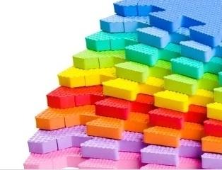 "Sportmat 6,5 m² ""Mix"" / 70 tegels (30 x 30 x 1,2 cm)"