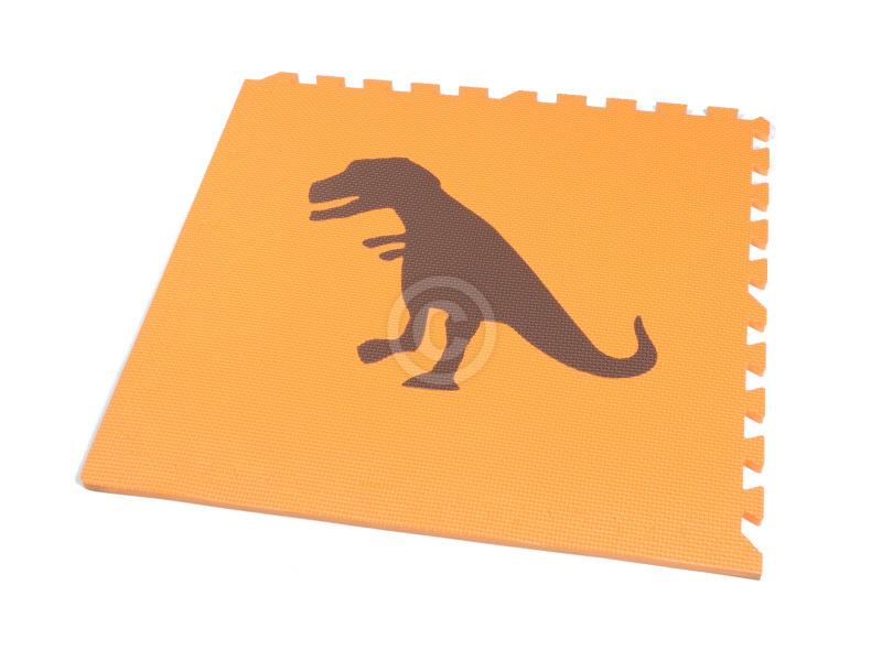 SALE! Losse vloertegel Dinosaurus (60 x 60 x 1,2 cm) oranje/bruin