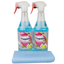 2 x TUGALIN NANO® Glasreiniger 1000 ml + microvezeldoek