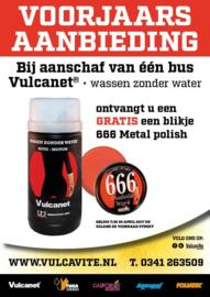 VULCANET® wassen zonder water 1 stuks + gratis 666 Metal Polish