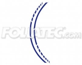 34443 Blauw Motor velgen Striping