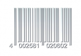 33914 CARDESIGN Sticker barcode wit mat