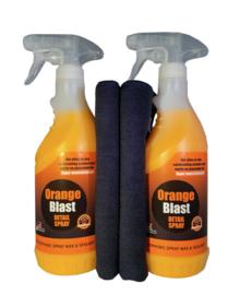 2 x OrangeBlast + 2 microvezeldoeken