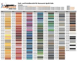 RAL kleuren spray film
