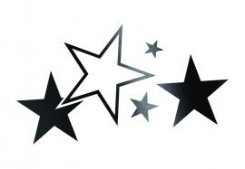 33922 CARDESIGN Sticker sterren zwart mat