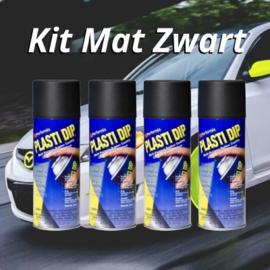 PLASTI-DIP® Mat zwart Kit (4 stuks)