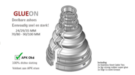 2 stuks variabele ashoes 70-80 mm