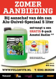 1 x 5 Liter Alu-Duivel-Speciaal® + gratis six pack Radler 0.0