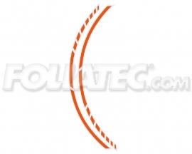 34445 Oranje Motor velgen Striping