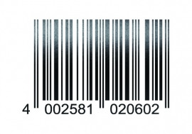 33913 CARDESIGN Sticker barcode zwart mat