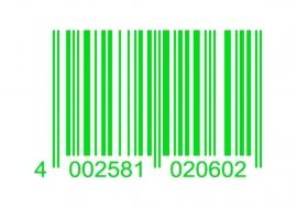 33916 CARDESIGN Sticker barcode neon groen