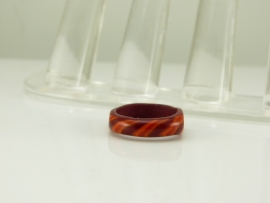 Rood/oranje gestreepte ring