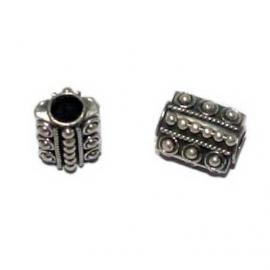 Rechthoekige zilveren grootgatkraal BD0790
