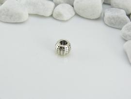 Zilveren opengewerkte kraal BD001